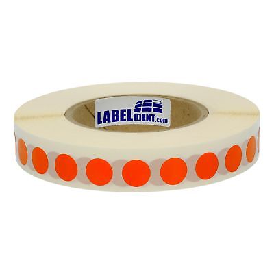 1000 Markierungspunkte 15 mm rund Folie orange, permanent, 1 Rolle(n)
