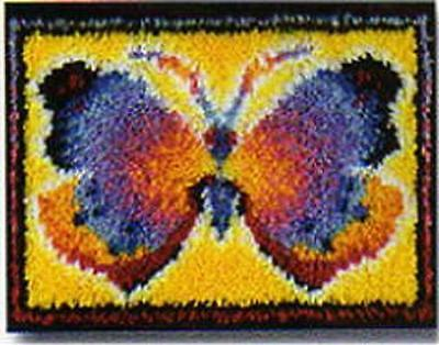 Butterfly Fantasy Latch Hook Rug Kit Wonderart 426143