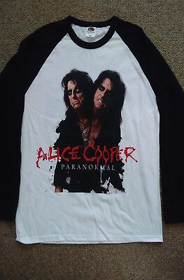Alice cooper2017 UK tour  baseball shirt.Size XL.