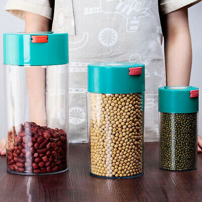 Vacuum Coffee Canister Storage Food Airtight Preserving Container Jar Straight