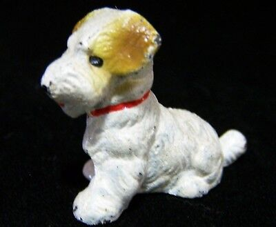 Vtg Hubley Cast Iron Sealyham Terrier Hand Painted Miniature Dog Figurine 218g