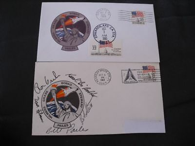STS 51J launch/landingset orig.signed Crew, SPACE