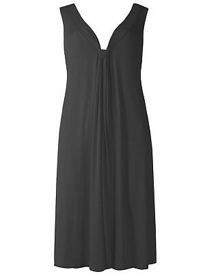 Ex M & S cool and comfortable black jersey beach dress sizes 8 to 22