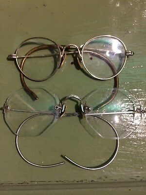 2 pair of vintage/antique eye glasses. Shuron and childs size too! Gorgeous!