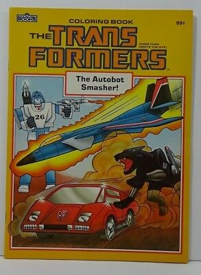 Vintage 1985 Transformers Coloring Book The Autobot Smasher! Unused NOS #D4