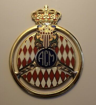 Stemma Montecarlo Calandre Badge Car Monaco ACM