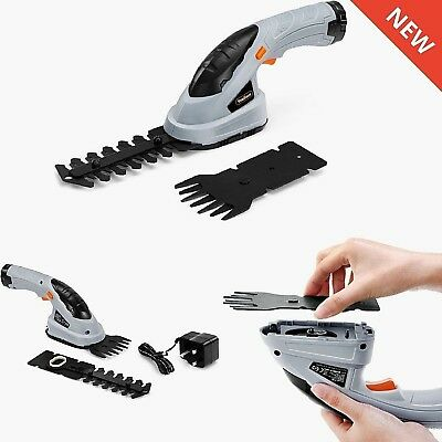 2in1 Cordless Hedge Trimmer Edger Cutter Grass Trimming Blade Mini Garden Tool