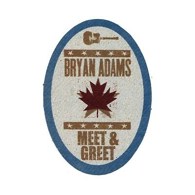 Bryan Adams authentic Meet & Greet tour Backstage Pass