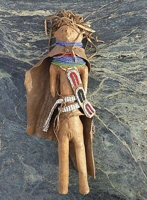 Good Quality East African Turkana Beaded Doll Glass Bead Eyes Cape Apron Skirt