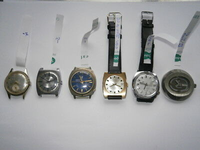 Job lot of vintage gents watches mechanical watches working spares or repair