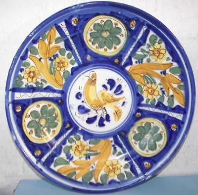 Good Large Portugese Wall Plate or Charger or Shallow Serving Bowl Pottery