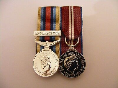 OSM Afghanistan, Queens Diamond Jubilee Miniature Medal Mounted