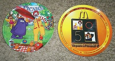 Very Nice Lot Of 2 Mcdonalds Collectible Plates-Picnic 2004& 50Years 2005