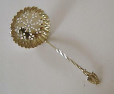 An Ornate Antique Sterling Silver Small Sugar Sifter Spoon Birmingham 1904