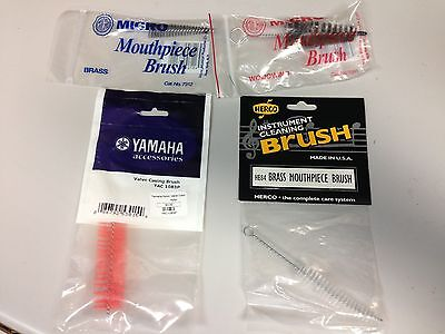 4 Varied Cleaning Brushes for Brass or Woodwind Instruments