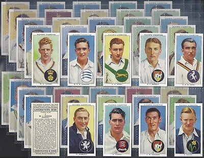 Players-Full Set- Cricket Ers 1938 (50 Cards) Don Bradman - Exc