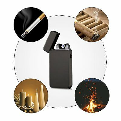 Atomic USB Electronic Lighter Single Arc Flameless Plasma Lighter Recharge NEW