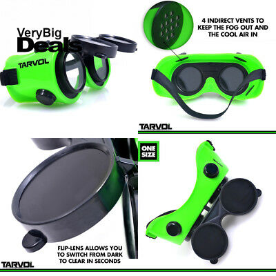 Welding Goggles (CONVENIENT FLIP-UP STYLE) Industrial Grade Brazing Glasses...