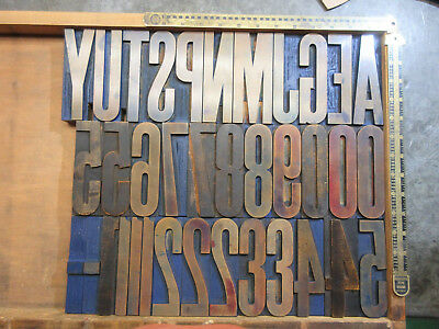 "Letterpress Wood Type 30 Line 5""   J56"