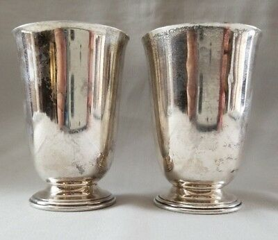 Barbour Silver Co. 2 STERLING KIDDUSH Cups ~No Mono~ Kiddish