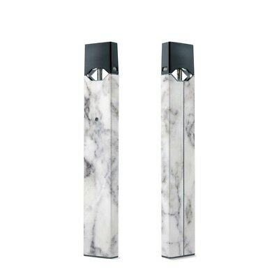 Skin Decal for YourJUUL - White Marble -  2-Pack - Sticker Wrap