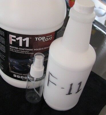 F-11 TOP COAT 20 ounce Spray Bottle Towel KIT SET MASTERCRAFT SEALER TOPCOAT CAR