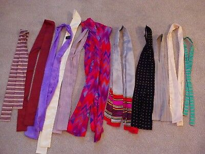 Womens silk ties 11 different various colors most from the 1980s (A)