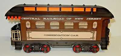 Vintage Jim Beam Decanter Central Railroad Of New Jersey Observation Train Car