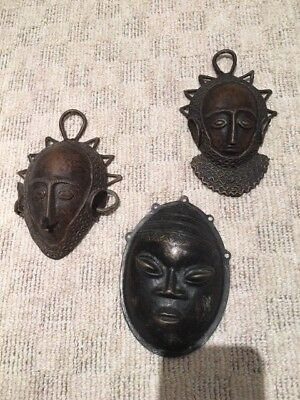 Old bronze masks