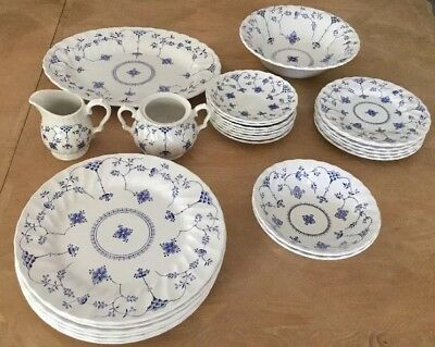 Vintage Myott Finlandia Dishes Staffordshire England 26 Pieces Dinner Plates