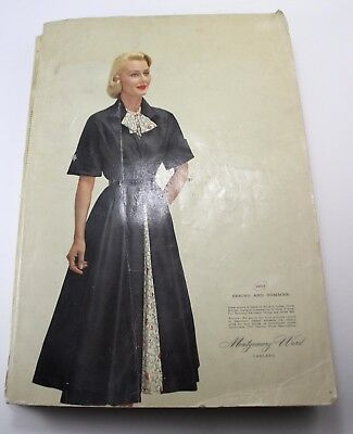 Montgomery Ward 1953 Spring and Summer Catalog Vtg Fashion Toys 1950s Store Book