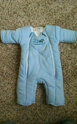 Baby Merlin's Magic Sleepsuit size Large 6-9 Months Blue