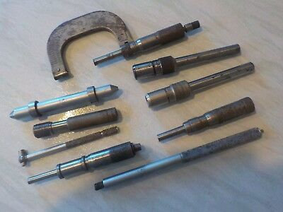 Vintage Micrometer Tool and job lot of parts and gauges
