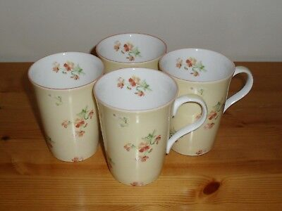 Laura Ashley Set of Four Fine Bone China Mugs. Whimsy Pattern. New.