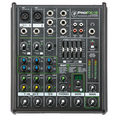 Mackie ProFX4 v2 4-Channel Professional FX Mixer, New!