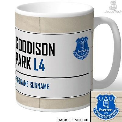 Personalised Everton Mug, Cup. Birthday Present Football Gift For Everton FC Fan