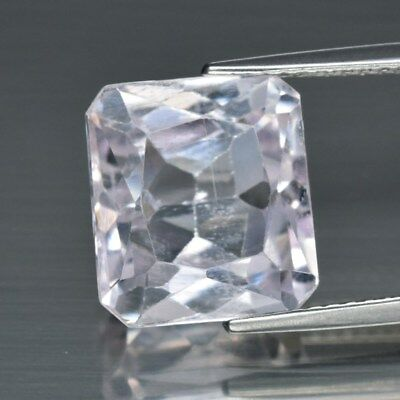 7.22ct 11.4x10.2mm Octagon Natural Untreated Very Light Pink Kunzite