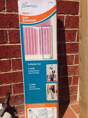 """Dreambaby Safety Gate 18cm(7"""") F171W Suitable For F160W And F170W"""