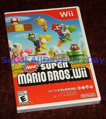 New Super Mario Bros. Wii (Nintendo Wii) ***BRAND NEW & SEALED*** Free Shipping!