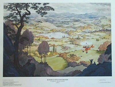 "Rupert The Bear Print  ""own Countryside"" Alfred E Bestall 1967 Limited 94/850"
