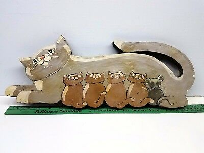 Large Plaster Cat w/Kittens & a Mouse, by C. R. DeBoer, 1984, Number 30 of 200.