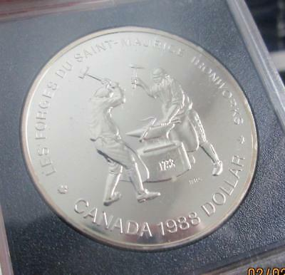 Canada 1988 Ironworkers Silver Dollar 23.33g ASW 0.5000 Silver  KM-161    #TF-90