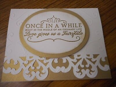 Handmade Wedding in Gold Fairytale Greeting Card - Stampin' Up products