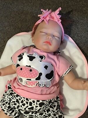 "Reborn Doll Silicone 22"" or 55cm With Accessories"