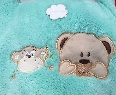 Brighton Road Ultra Soft Embroidered & Squeek Cot & Pram Baby Blanket 3 colours.