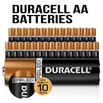 Genuine Duracell Bulk AA Alkaline Batteries Lock Power Multiple Selection