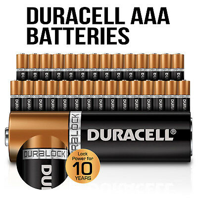 Genuine Duracell Bulk AAA Alkaline Batteries Lock Power Multiple Selection