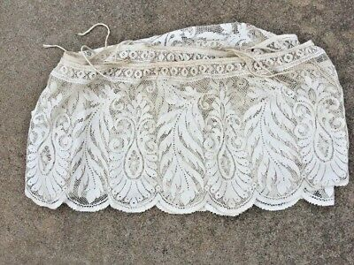Vintage Antique Italian Lace Crib Baby Bed Bunting