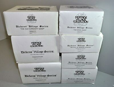 Lot of 7 Heritage Village Collection Dickens Village Series *Local Pickup Only*