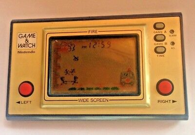 1981 Ninetindo Gameboy and Watch Wide Screen - Fire Attack